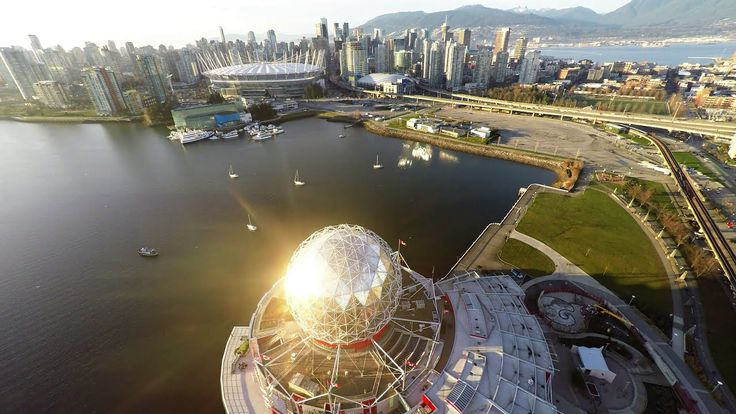 Vancouver Downtown Aerial Shots in 4K - GoPro 4 - Dji Phantom 2 Drone