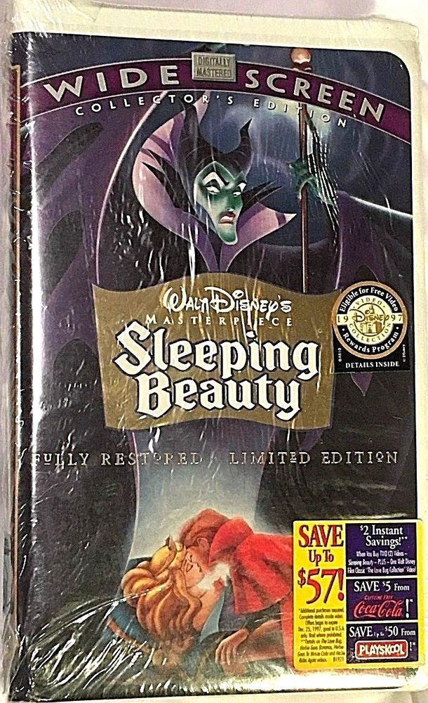 1997 Walt Disney Classics Sleeping Beauty Limited Collector's Edition VHS Tape. #WaltDisney