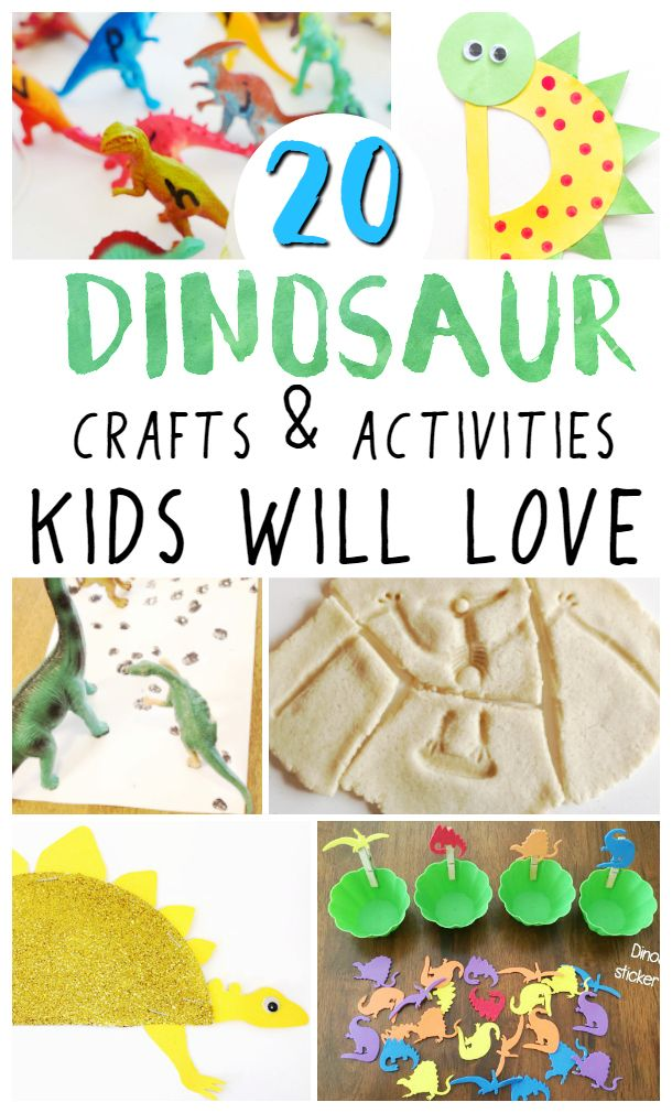 Most kids love dinos. These dinosaur crafts are exciting and fun for kids and will fit perfectly with any dinosaur theme or dinosaur unit study. #dinosaur #kidscrafts #kidsactivities #thematicunit