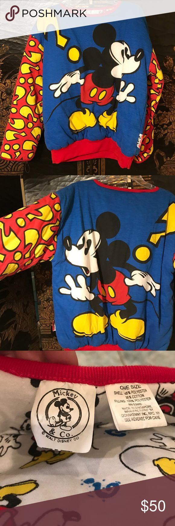 "Vintage '80s Walt Disney Co one size reversible Reversible Walt Disney & Co plush sweat shirt by Donnkenny   Vintage 1980  excellent condition. Chest 52"" shoulder to hem 26"" shoulder to cuff 22"" multi color red, white, black, blue, yellow Walt Disney& Co Tops Sweatshirts & Hoodies"