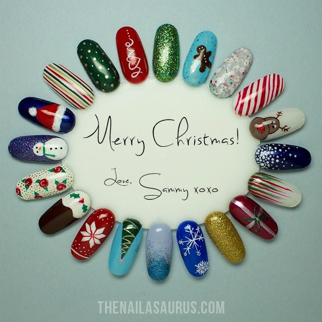 So many amazing Christmas nail art ideas here