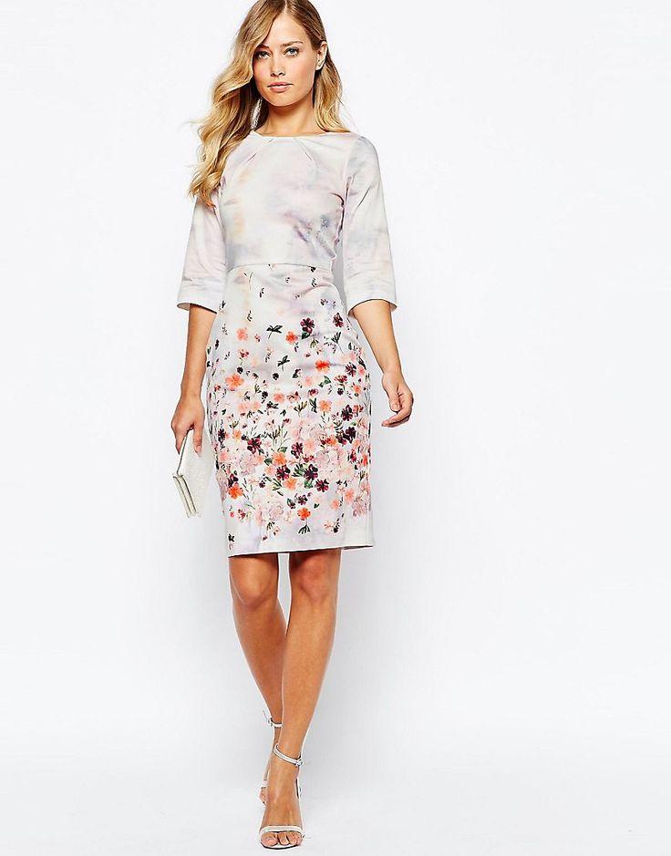 Image 4 ofCloset Floral Print Midi Dress With 3/4 Sleeve