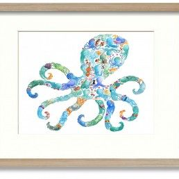 Beautiful octopus art work - Products - as featuring currently on www.apassionforhomes.com