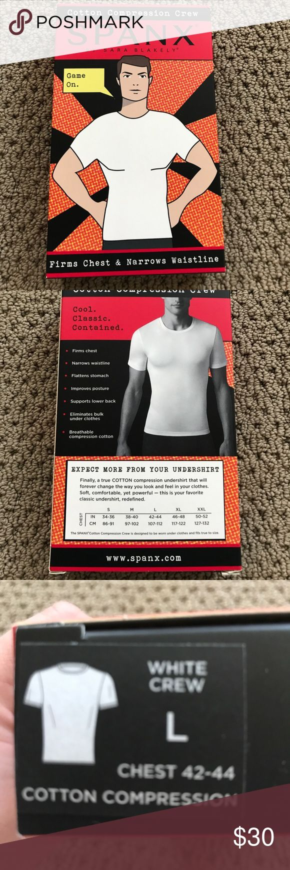 Men spanx undershirts never worn White spanx undershirt. 81% cotton 19% spandex SPANX Underwear & Socks Undershirts