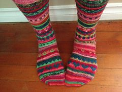 Ravelry: square [ j ] jane's Stranded Socks pattern by square [ j ] jane http://www.ravelry.com/patterns/library/square--j--janes-stranded-socks