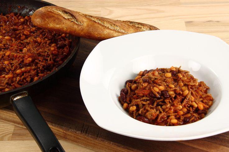 Chili con carne - En opskrift fra Alletiders Kogebog blandt over 38.000 forskellige opskrifter på