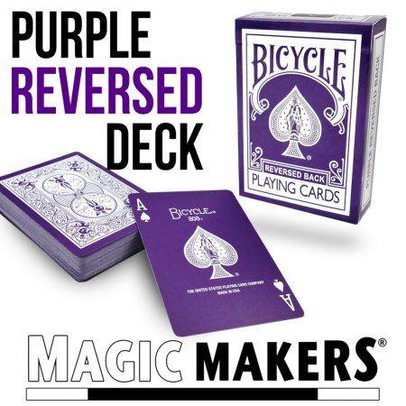 Magic Makers Reverse Back Purple Bicycle Deck