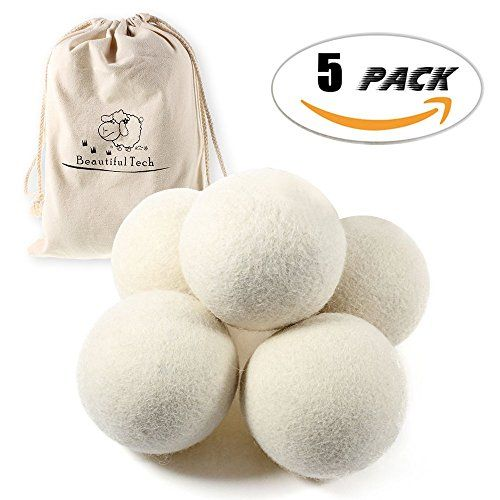 Premium Australian Wool Dryer Balls (5 Pack) (2.75 Inch) ...