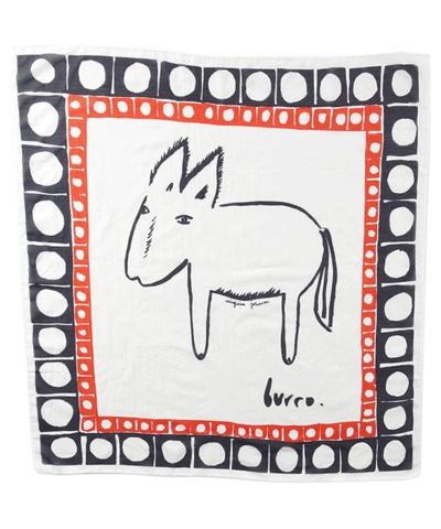 Virginia Johnson silk scarf, burro