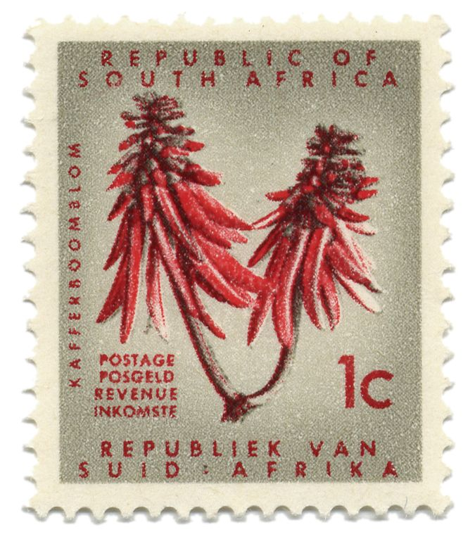 Republic of South Africa vintage stamp