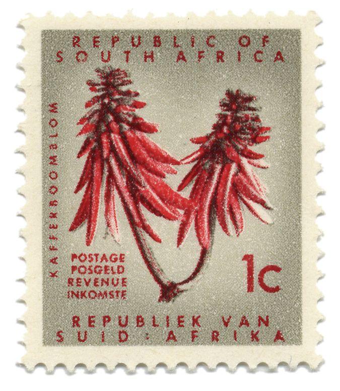 Republic of South Africa vintage stamp. BelAfrique your personal travel planner - www.BelAfrique.com