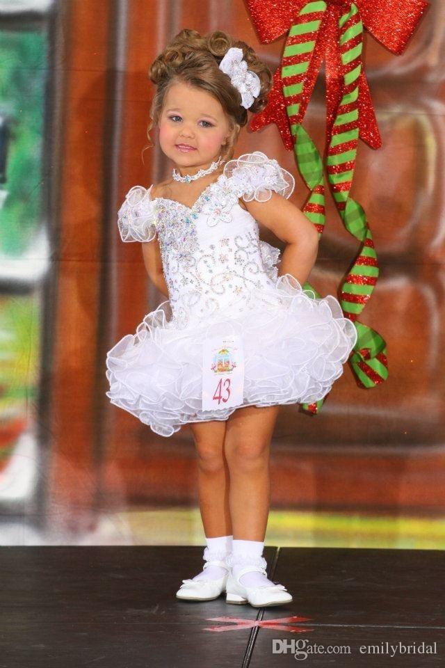 Cheap White Toddler Pageant Dresses For Girls Off Shoulder Mini Short Cake Princess Kids Formal Wear Little Girl Communion Dress Glitz Beauty Pageant Dresses Infant Toddler Pageant Dresses From Emilybridal, $95.48| Dhgate.Com
