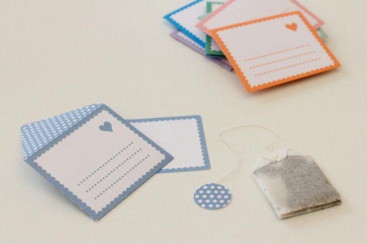 DIY – enveloppes à thé pour les mariés