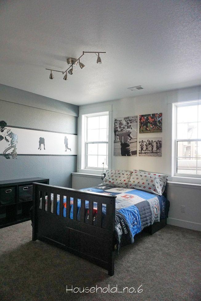 44 best Boys football themed bedroom images on Pinterest | Aspen ...