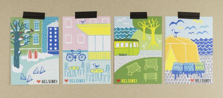 Muumuru postcards: Lempi Helsinki sarja