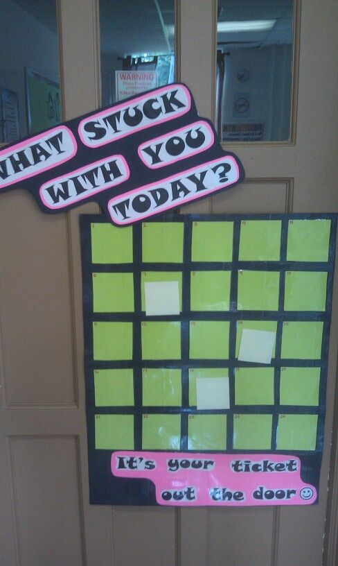 Awesome exit activity I found on Pinterest and recreated a bit for high school:)