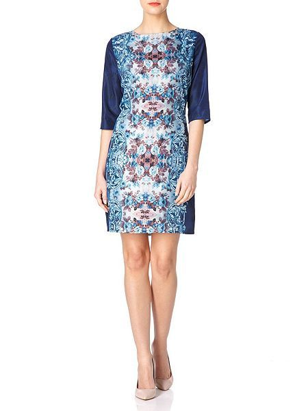 The Mirrored Paisley Floral Dress  The Mirrored Paisley Floral Dress