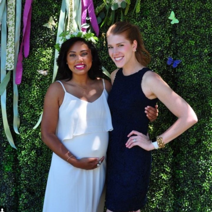 Ayesha Curry looks absolutely angelic at her baby shower with her second bundle of joy! #preggonista #pregnancystyle #maternitystyle #maternityfashion #celebstyle