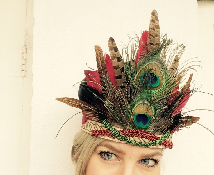 New #feather #headpiece online! https://www.etsy.com/listing/266816209/diana-handmade-feather-headdress-feather
