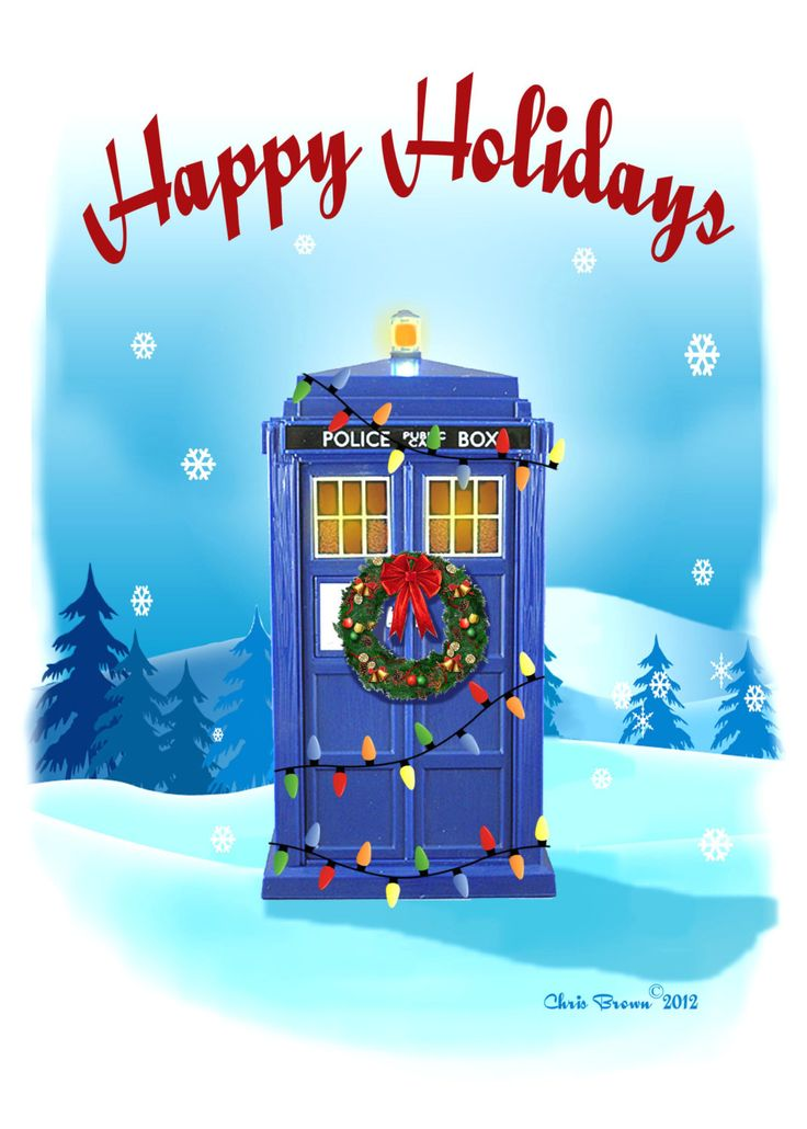 Doctor Who Christmas Cards Tardis Christmas by RaygunsandRobots