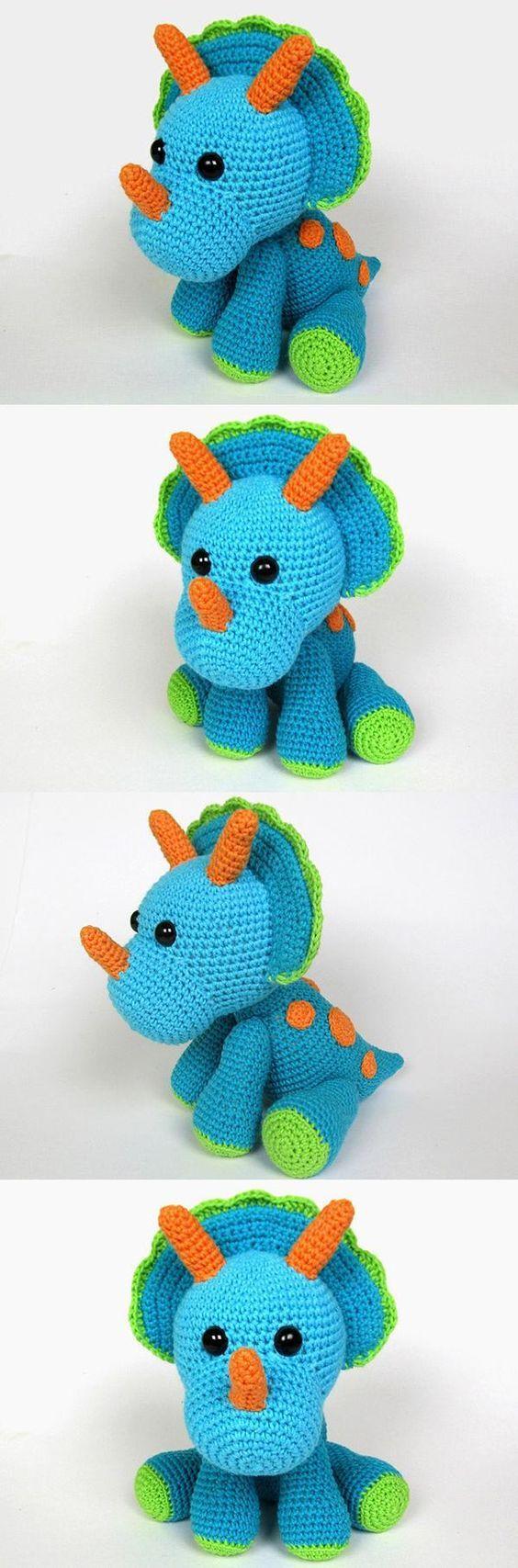 Triceratops Tripi Amigurumi Pattern