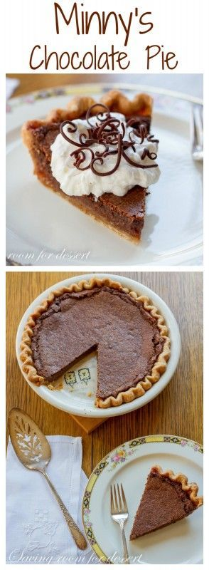 "Minny's Famous Chocolate Pie - from the movie ""The Help"""