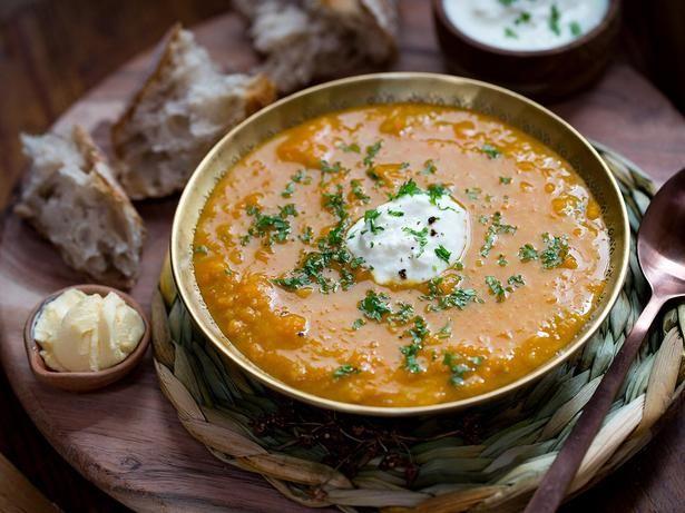 Pumpkin and Red Lentil Soup Recipe - Viva