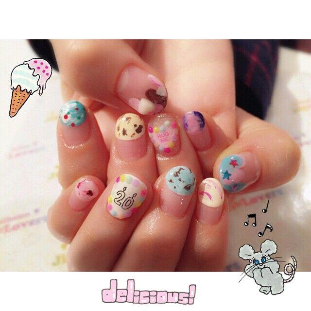 甘くてかわいい♡おすすめ「アイスネイルデザイン」画像30枚♡ | Jocee
