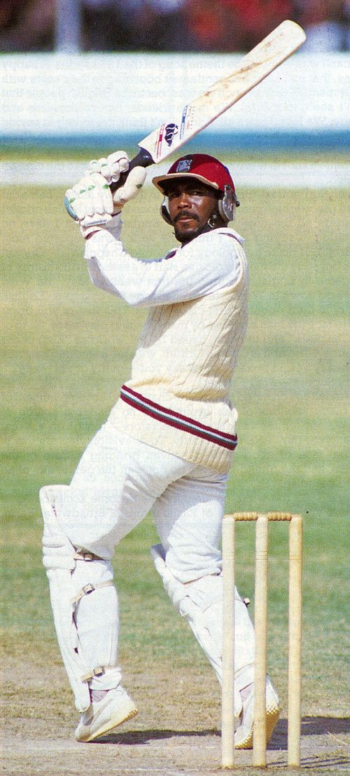 Gordon Greenidge on the attack. Best opening batsmen of all time.,.