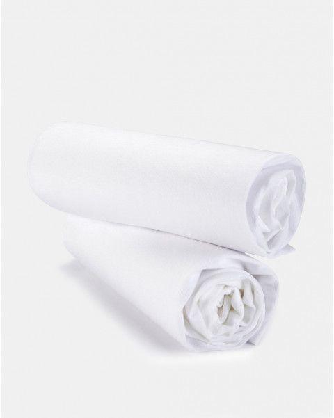 Pack 2 pezzi lenzuola carrozzina con angoli in jersey bianco - Lenzuola e trapunte - Cameretta - CASA