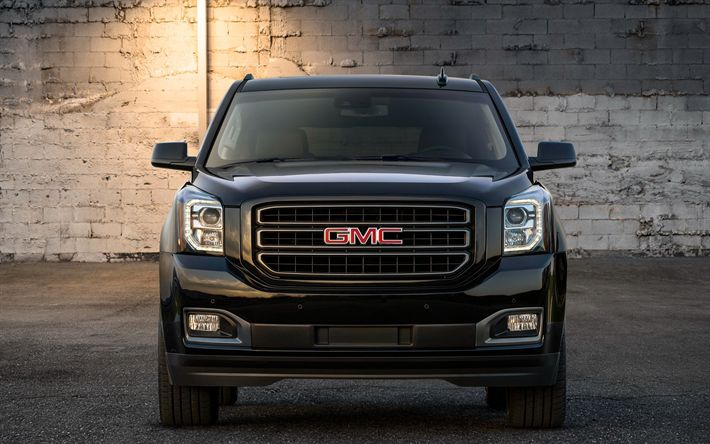 Download Wallpapers Gmc Yukon 2019 Graphite Edition Front View Exterior New Black Yukon American Suv Pickup Trucks Gmc Besthqwallpapers Com Gmc Yukon Gmc Trucks Buick Gmc