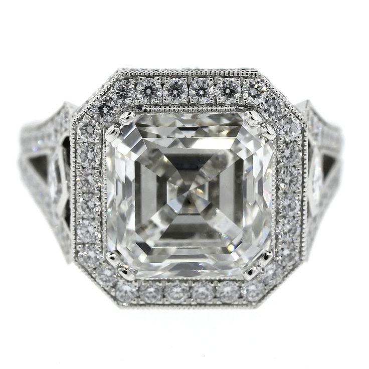 Asscher Cut Engagement Rings  Carat
