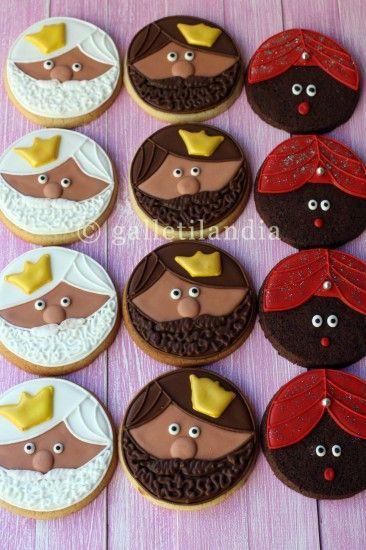 Galletitas de Los Tres Reyes Magos #Navidad-- Three Kings cookies for epiphany. Cute and delicious!