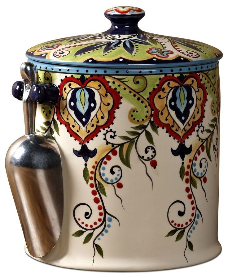 The colorful patterns in Espana's Bocca ice bucket will bring a little spicy flair to your next rooftop cocktail party