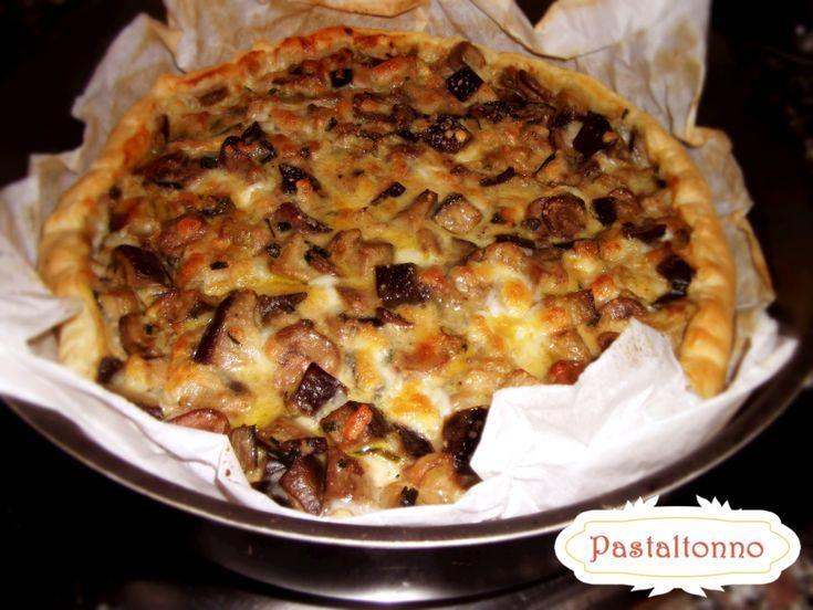 Easy new year's #recipe! #Mushroom quiche! here: http://pastaltonno.it/torta-salata-funghi-melanzane/