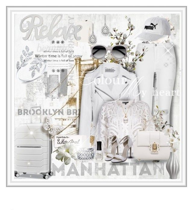 """""""White"""" by gianna-pellegrini ❤ liked on Polyvore featuring iCanvas, River Island, Ace, Calvin Klein Jeans, Exclusive for Intermix, Snobby Sheep, Dolce&Gabbana, Kenneth Jay Lane, Bloomingdale's and Anne Sisteron"""