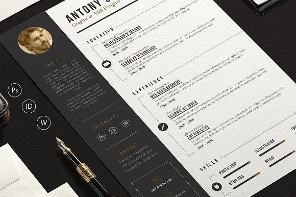Pro Resume by sz81 on @creativemarket Professional printable resume / cv cover letter template examples creative design and great covers, perfect in modern and stylish corporate business design. Modern, simple, clean, minimal and feminine style. Ready to print us letter and a4 layout inspiration to grab some ideas. In psd, indd, docs, ms word file format. #resume #cv #template #professional #word #modern #creative #design