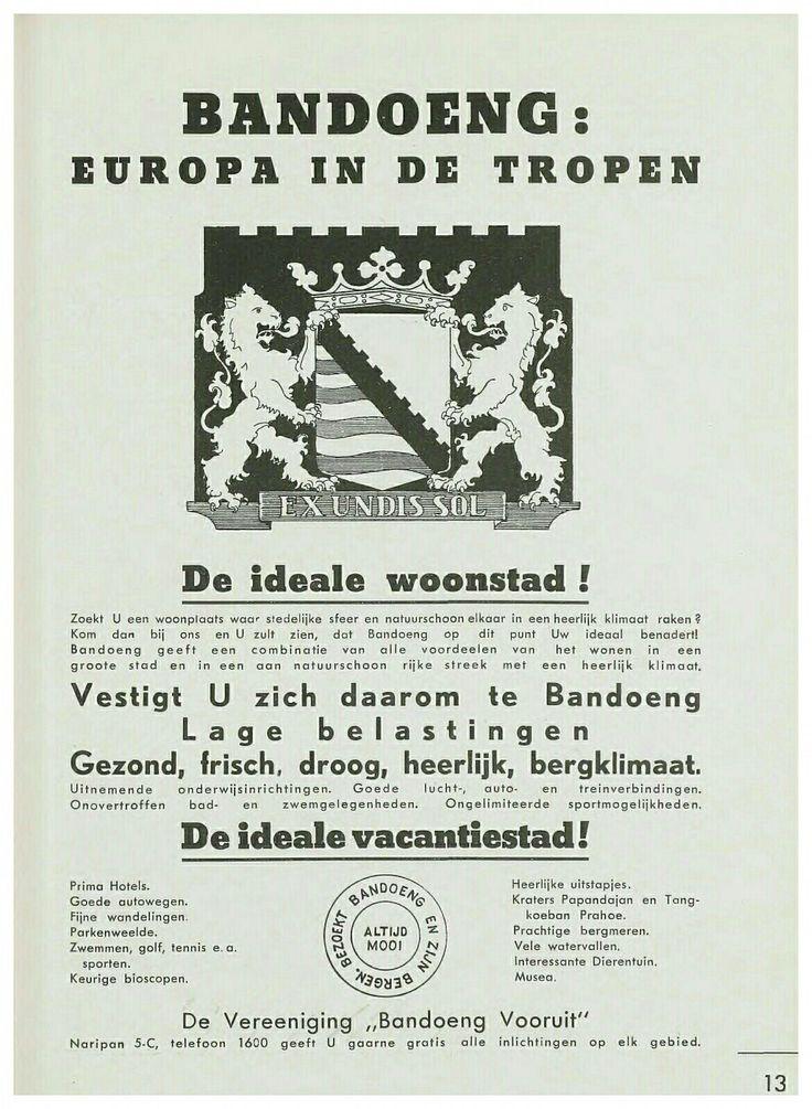Bandoeng : Europa in de tropen. Mooi Bandoeng 1939.
