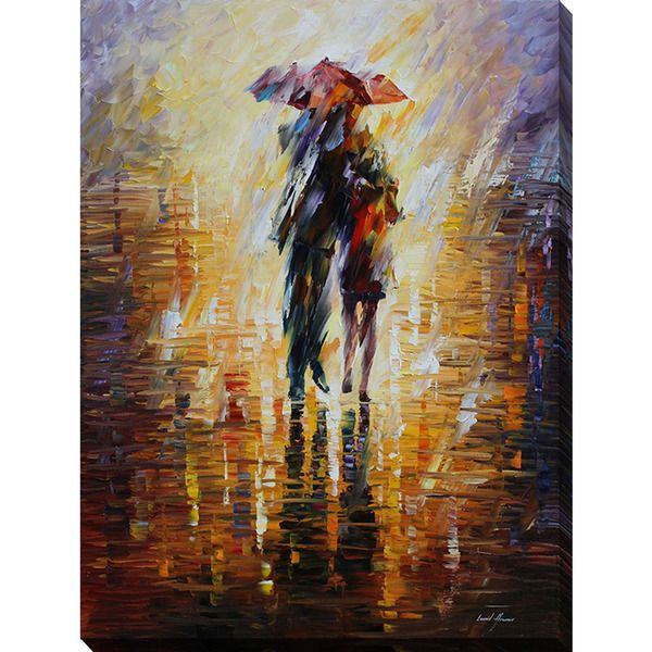 Leonid Afremov 'Together In The Storm' Giclee Print Canvas Wall Art