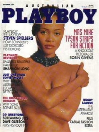 Playboy (Australia) October 1994  with Robin Givens on the cover of the magazin