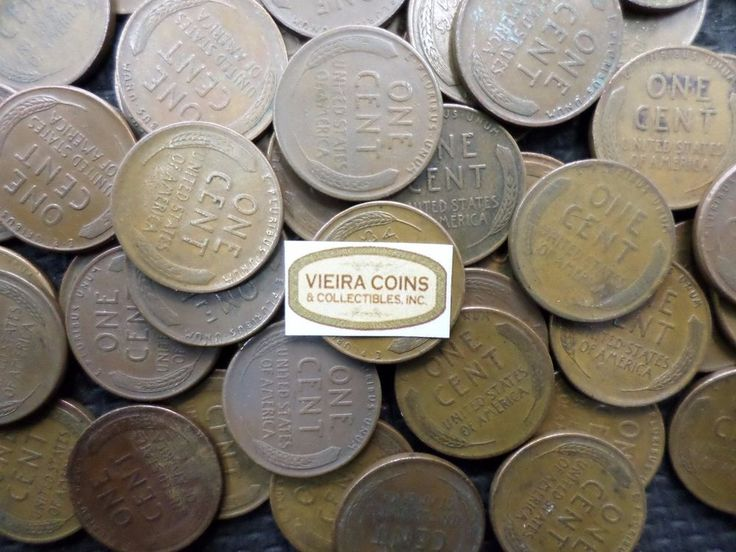 Lot of 500 -  Lincoln Wheat Penny, Mixed Dates from 1930 -1958    - #10395