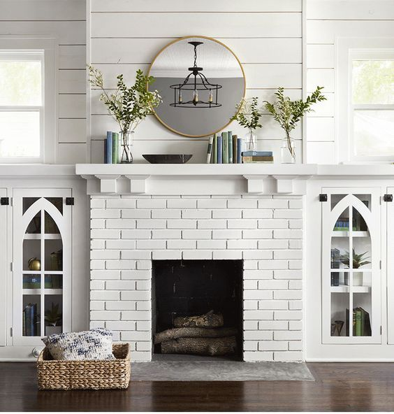 Hgtv Living Room Color Ideas: 30 Stunning White Brick Fireplace Ideas (Part 1)
