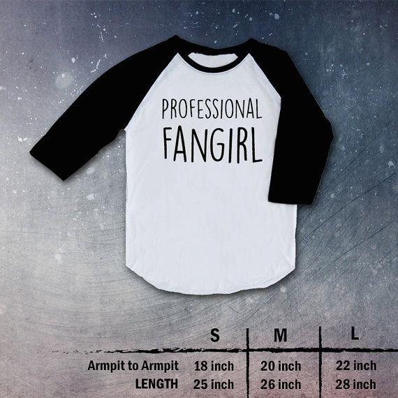 profesisonal fangirl Shirt Top tShirt Raglan christmas gift present t-shirt