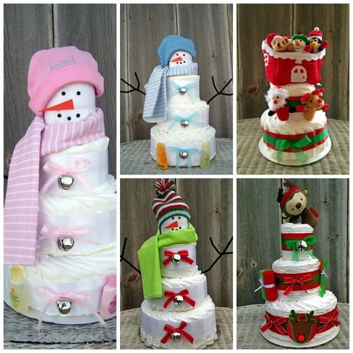 Top 5 Holiday Diaper Cakes for 2013   All Diaper Cakes Blog