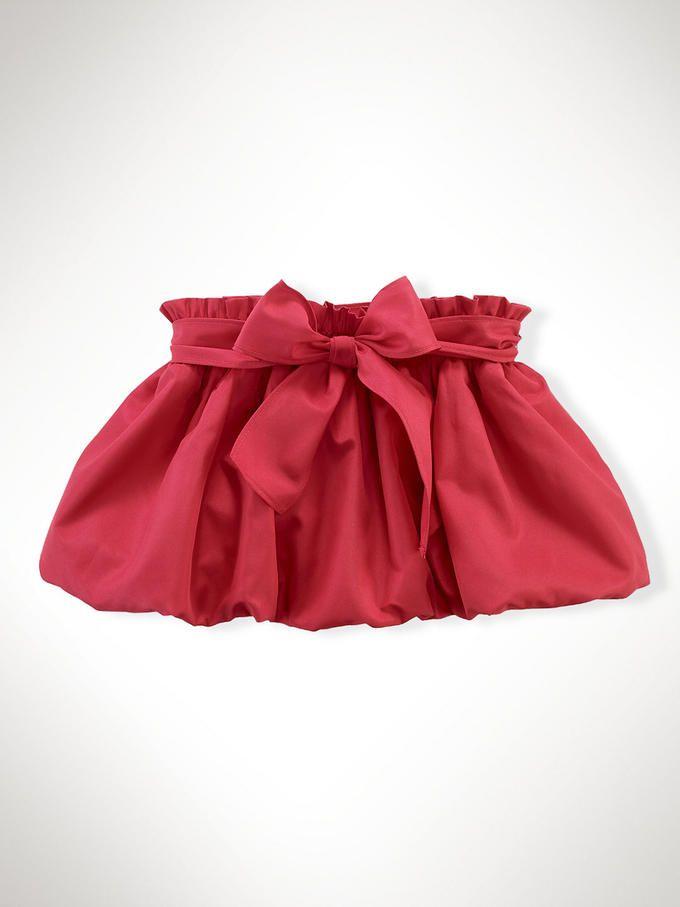 falda globo rojo
