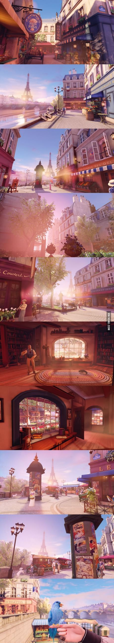 Holy shit, quite possibly the most beautiful locations in a game I've ever seen. [Bioshock Infinite DLC]