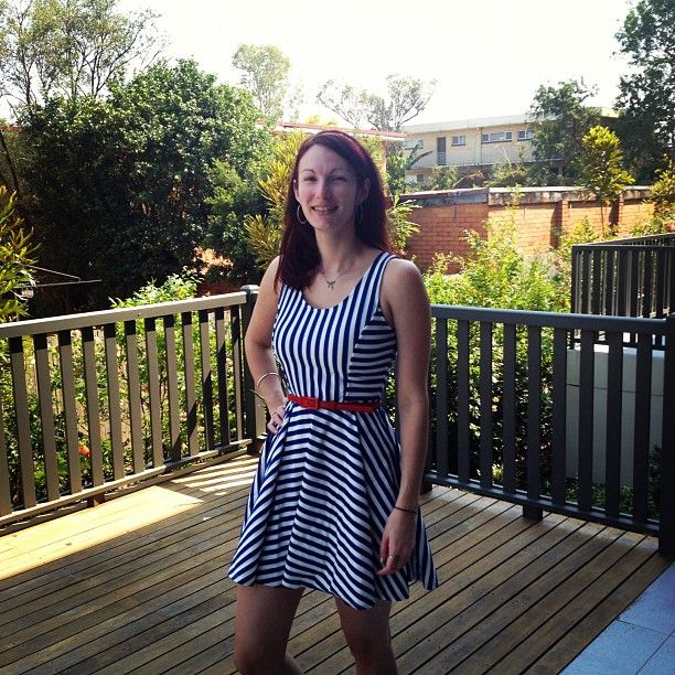#frocktober day 27: quick Saturday stripes. So close to my target, please donate to contribute to a truly worthy cause.