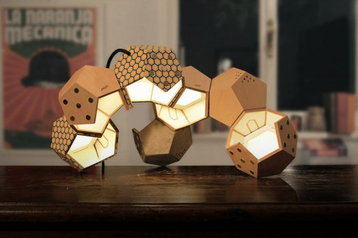 The D-Twelve Lamp is a sculptural and modular design – beautiful to look at, well-made, and completely customizable. With up to seven modules, this lamp can be modified to suit your every need.