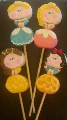 como decorar bubulubus de princesas con royal icing - Buscar con Google