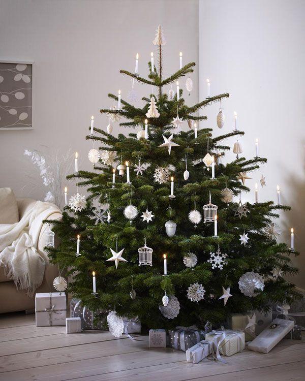 Weihnachtsbaum weiß geschmückt ♥